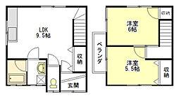 [テラスハウス] 三重県津市久居北口町 の賃貸【/】の間取り