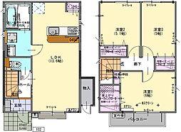 [テラスハウス] 茨城県つくば市東2丁目 の賃貸【/】の間取り