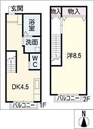 CITYハイム[1階]の間取り
