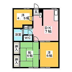 エステートピア土屋A[2階]の間取り