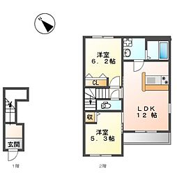 仮)藤江新築アパート[2階]の間取り