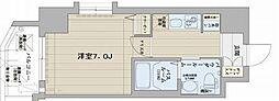 エステムコート博多・祇園ツインタワーセカンドステージ[4階]の間取り