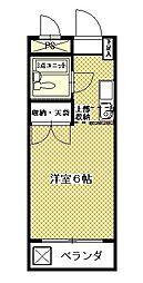 セントラルマンション[405号室]の間取り