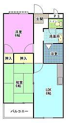 マンション昭栄[1階]の間取り