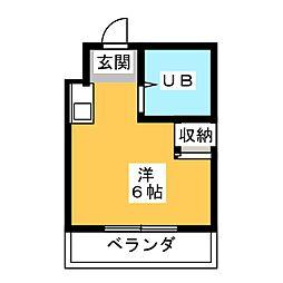 ハートイン弥富通[4階]の間取り