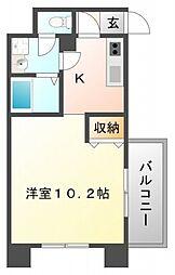 マリンズ江坂[4階]の間取り