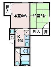 M'sハイム[2階]の間取り