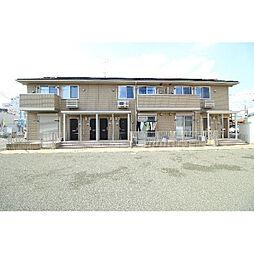 群馬県伊勢崎市中央町の賃貸アパートの外観