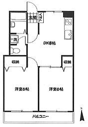 東京都板橋区高島平8丁目の賃貸マンションの間取り
