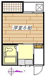 松栄ハイムII[203号室]の間取り