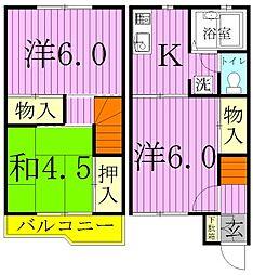 [テラスハウス] 埼玉県三郷市上口1丁目 の賃貸【/】の間取り