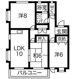 タウンハウス郷 A棟[A-4号室]の間取り