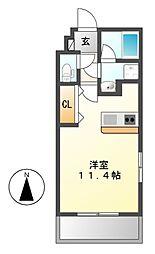 ボヌール新栄[2階]の間取り