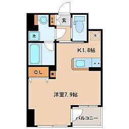 KDXレジデンス仙台駅東 10階ワンルームの間取り