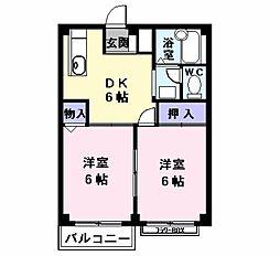 グリーンハイツ五反田2[0203号室]の間取り