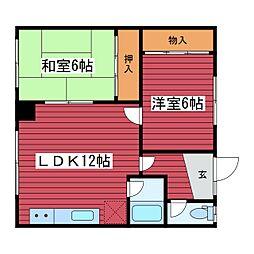 ミツグマンション[2階]の間取り