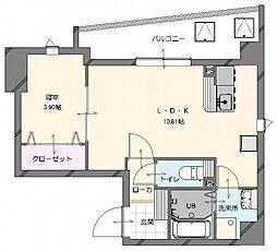 (仮称)博多南駅前新築マンション (新築) 6階1LDKの間取り