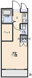 茂原バディマンション[3B号室]の間取り