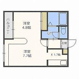 ホークメゾン札幌2号館[1階]の間取り