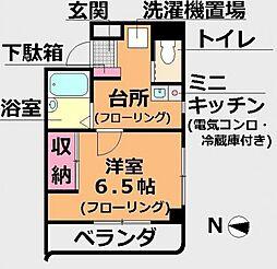 東京都江戸川区一之江3丁目の賃貸マンションの間取り