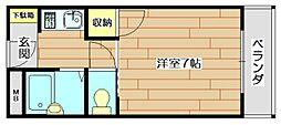 戸伏サンハイツ[1階]の間取り