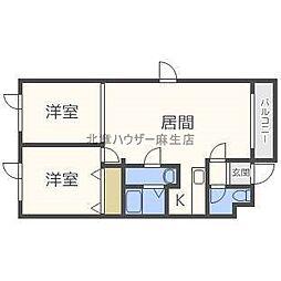 北海道札幌市北区屯田九条5丁目の賃貸マンションの間取り