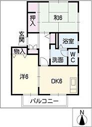 サンハウス A棟[1階]の間取り