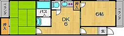 大阪府大阪市西淀川区千舟2丁目の賃貸マンションの間取り