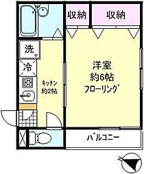 タワーサイド初台[3階号室]の間取り