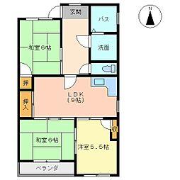 村井レジデンス[106号室]の間取り