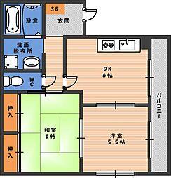 パークハイツ駒川中野[3階]の間取り