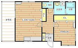 [一戸建] 大阪府高槻市安満中の町 の賃貸【/】の間取り
