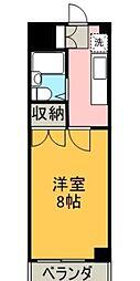 ハッピーハイツ田宮[2階]の間取り