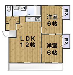 ビ・ブロッサム 3階2LDKの間取り