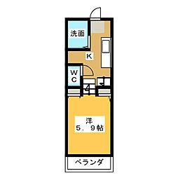 隠れ家(KAKUREGA)[1階]の間取り