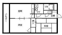 北海道札幌市南区澄川三条6丁目の賃貸マンションの間取り