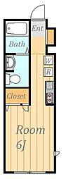 クレセール調布B[2階]の間取り
