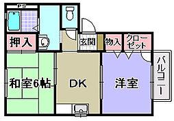 花水木タウン[E202号室]の間取り
