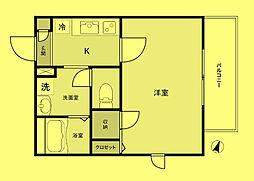 東京都豊島区高松2丁目の賃貸マンションの間取り
