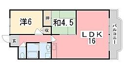 エクセル東加古川弐番館[507号室]の間取り