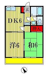 コーポ斉藤[1階]の間取り
