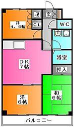 ロアハウス池田[1階]の間取り