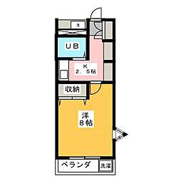 ベールフォーレ高峯[3階]の間取り