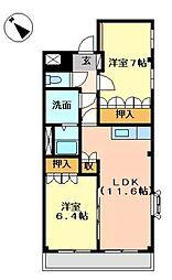 ウェルカム ハウス[1階]の間取り