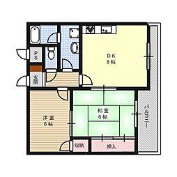 みずきマンション[0302号室]の間取り