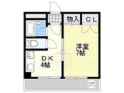 愛知県名古屋市千種区新池町3丁目の賃貸マンションの間取り