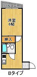 マーメイド23[4階]の間取り