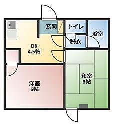 マンション林[2階]の間取り