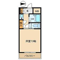 ファニーコートS[3-B号室]の間取り