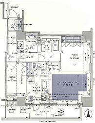 グレーシアタワー三鷹 15階2LDKの間取り